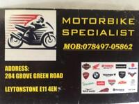 MOTORCYCLE SERVICE AND REPAIRS IN LEYTONSTONE