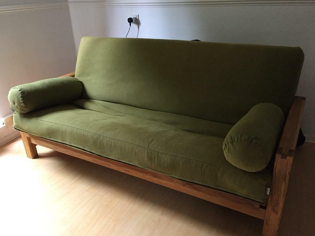 3 Seater Solid Oak Horizon Sofa Bed By