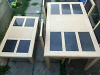 Dinning table 4 matching chairs and a coffee table