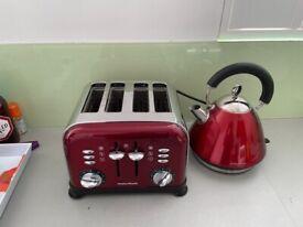Kettle & 4 slice Toaster Morphy Richards