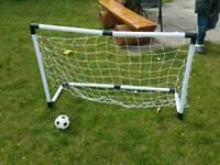 Football Goalpost for children & Ball (used once)