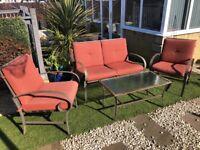 Garden Sofa Set and Table