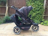 Phil and Teds Explorer Double Buggy+ Lots of Extras