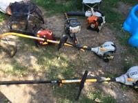 Lot of garden machinery