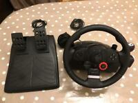 Logitech Driving Force GT Steering Wheel and Pedals