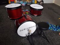 Kids drum set just need sticks payed 80 new want 40 pick up onky