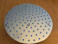"""Chrome Shower Designer Shower Head - 7"""" diameter BNIB"""