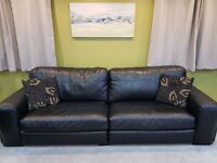 Contemporary Leather 3 and 4 seater sofas. Less than 2 years old. Fantastic comfy soft leather suite