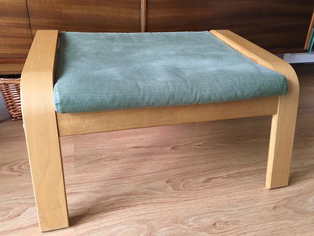 Ikea Poang Footstool in *rare* green fabric