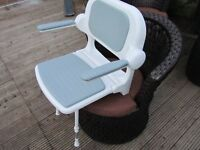 fold up shower seat-chair with arms