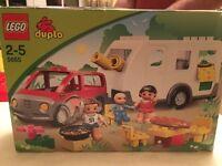 Duplo car and caravan camping set