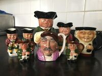 Collection of 8 Toby Jugs