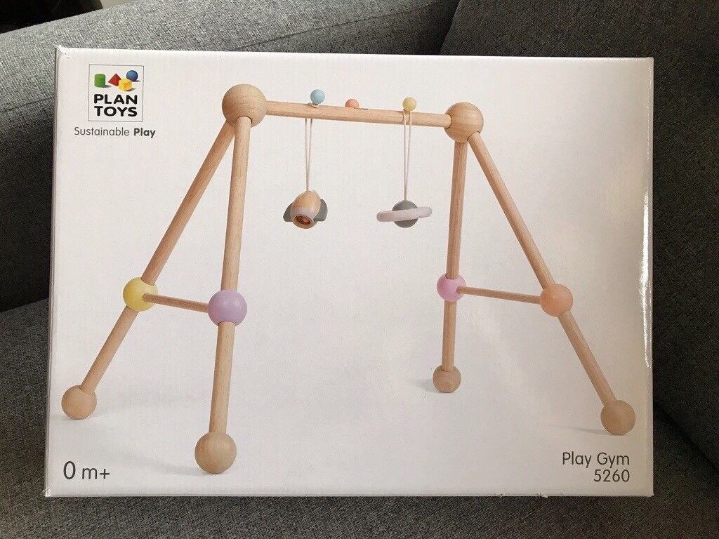 plan toys wooden baby gym 5260, new in box, eco-friendly | in barnsley,  south yorkshire | gumtree