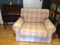 Love seat and foot stool