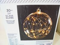New In Box Next Led Lights Glass Globe Battery Operated Lamp Light
