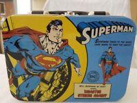 Superman Lunch Box Tin Comic Book RETRO