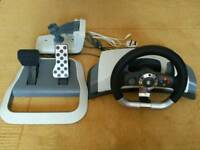 Xbox 360 steering wheel & pedals with force feedback