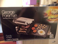 George Foreman Family 4 Portion Grill & Griddle - NEW & NEVER USED