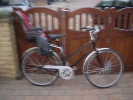 Ladies Road Bike with Hamax Child Seat.