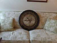 Extra large wall clock with world map on face