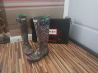 Hunter Wellingtons great bargain hunter high leg Wellington boots only worn twice size 6