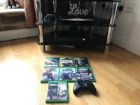 Xbox one X plus 10 games