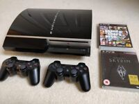 PS3 60GB with 2 controllers and games