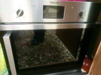 Built in oven and induction hob