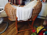 Baby Moses basket pod and stand