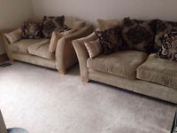 Two sofas 3 seater and and a 2 seater very good condition