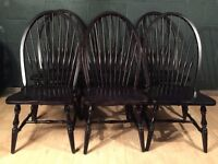 Set of 6 Scandi Danish Retro Vintage Wooden Dining Chairs