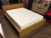 Solid Wood Double Bed & Mattress