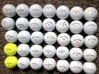 35 Callaway golf balls immaculate condition cxr power, warbird/plus, hex hot, big bertha