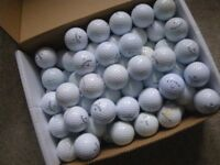 LOT OF 100 GOLF BALLS - TITLEIST; SRIXON and CALLAWAY. IDEAL FOR PRACTISE.
