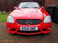 2002 Mercedes SLK 2.3cc Auto Kompressor Aventgarde Convertible