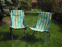 2 pretty folding sun chairs.