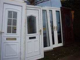 large bundle of upvc doors and french door clearance sale