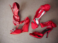Red Heels , size 5 and 6