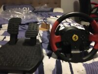 Thrustmaster T150 wheel and pedals