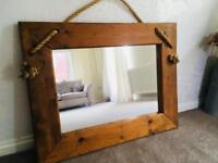 Beautiful Large Pine Mirror