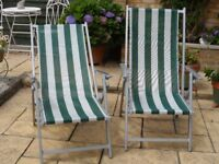 Aluminium deck chair style garden chairs