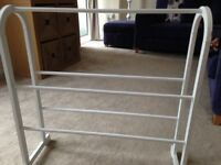 White wooden towel rail