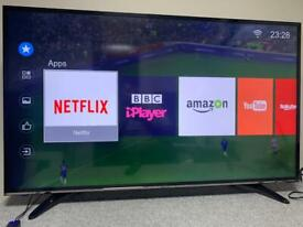 """49"""" HISENSE 4K UHD HDR LED SMART TV NETFLIX 4K YOUTUBE USB WiFi Freeview HD CAN DELIVER"""
