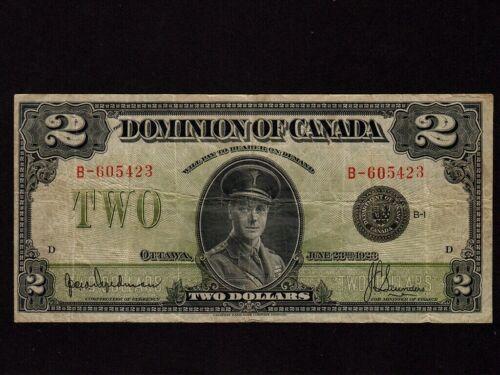 Canada:P-34a,2$,1923 * Hyndman & Saunders * Edward Prince of Wales * VF- *