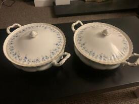 2 x Royal Albert Fine Bone China Casserole Dishes