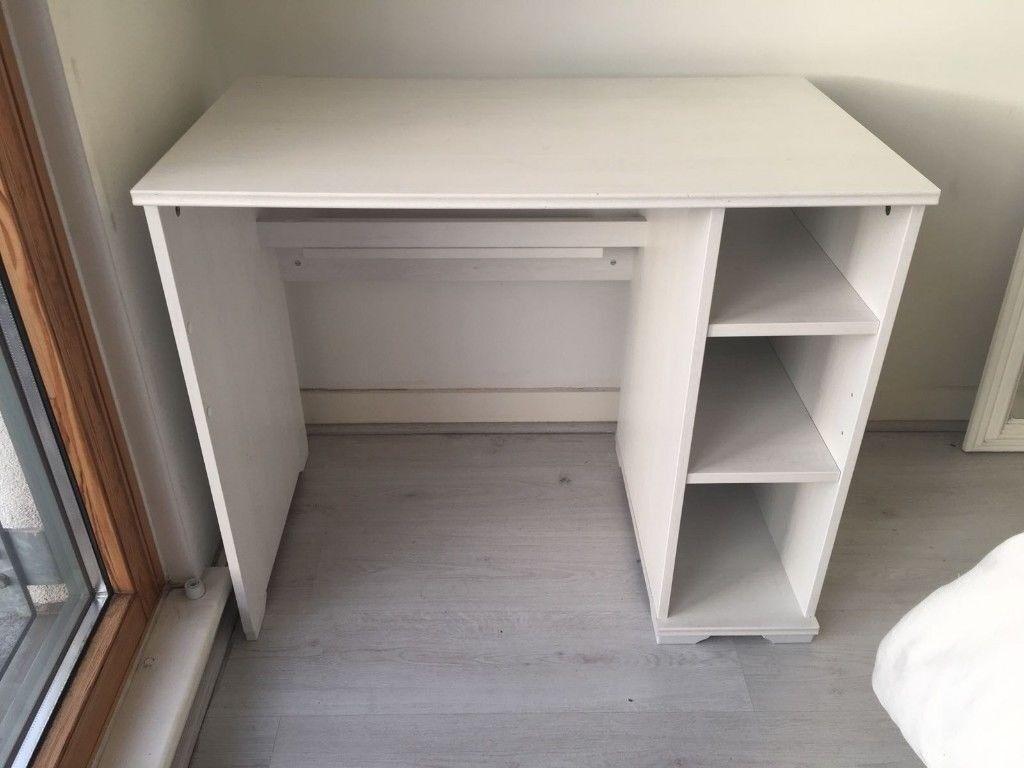 Whitewashed Work Desk 90cm Wide X 52cm Deep 75cm High