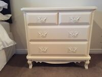 CREAM CHEST OF DRAWERS FOR SALE X2 OR SELL SEPARATELY