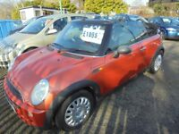 MINI ONE 1598cc CONVERTIBLE 2005-54, METALIC ORANGE, 2 FORMER KEEPERS, PART SERVICE HISTORY