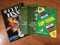 Manchester United FA Cup Final programmes.