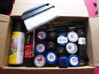 custom painting kit, wall, many color samples, brushes, black spray and wall fixing paste